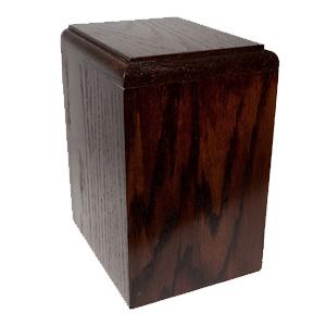 urne funéraire chêne brun
