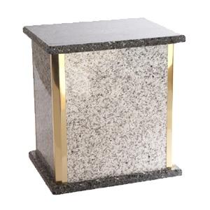 urne funéraire double granite blanc