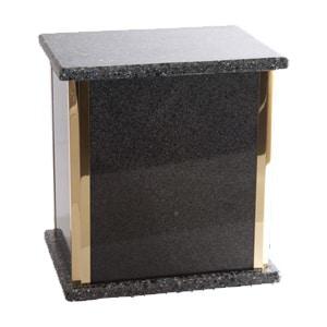 urne funéraire double granite gris