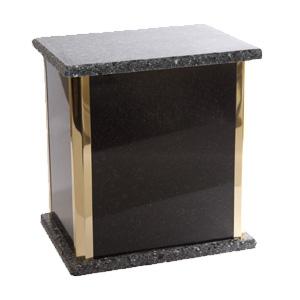 urne funéraire double granite noir