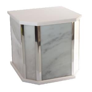 urne funéraire double marbre blanc