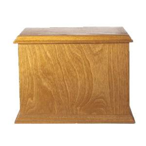 urne funéraire double merisier miel