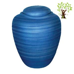 urne funéraire écologique bleu