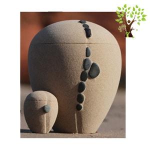 urne funéraire écologique sable