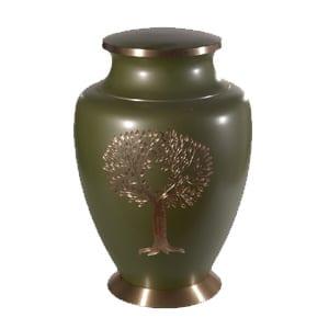 urne funéraire laiton vert