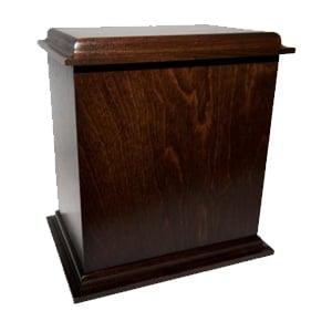 urne funéraire merisier brun foncé
