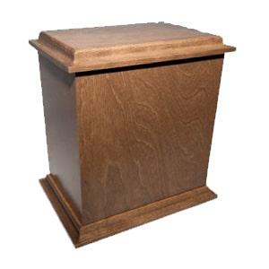 urne funéraire merisier brun